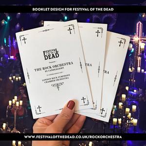 Booklet design for Rock Orchestra