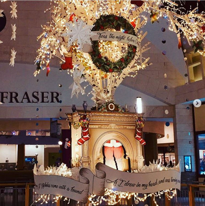 Bluewater Shopping Centre Wreath & Scrolls