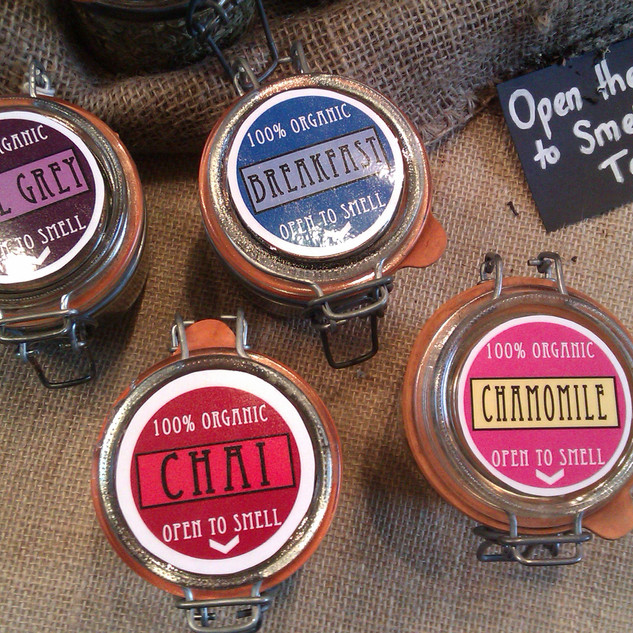 Borough Market - Organic Life Teas Jar Labels