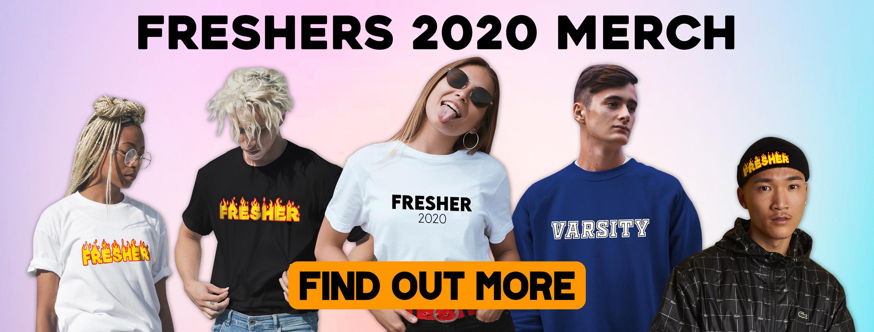 Freshers Merch Web Poster Design