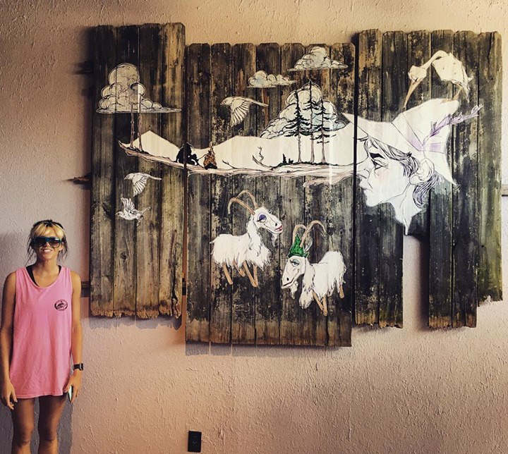 Crudo Nudo Interior Mural, Norfolk VA, 2018
