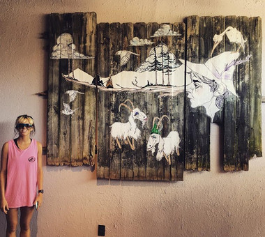 Crudo Nudo, Norfolk VA, Interior Mural, 2018