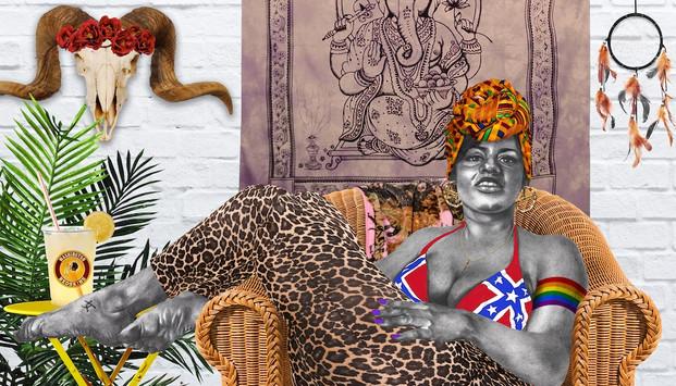 Odalisque-esque, digital collage, 2016
