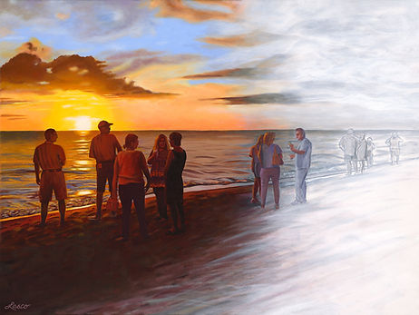 SUNSET AT THE DUCK by Ginny Lasco.jpg