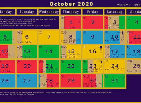 Finely the Void of Course Moon Calendar is back in good shape.