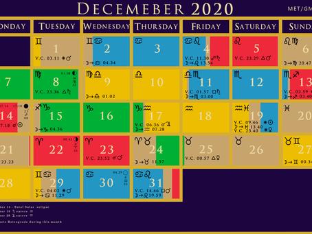 December 2020 void of course Moon calendar