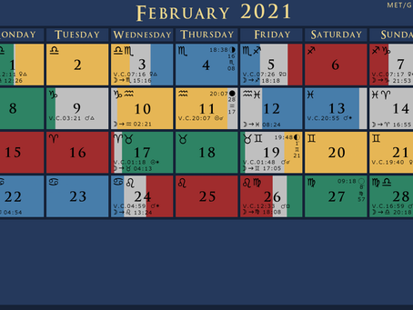 February 2021 Void of Course Moon