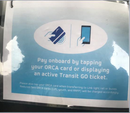 Swipe your Orca card