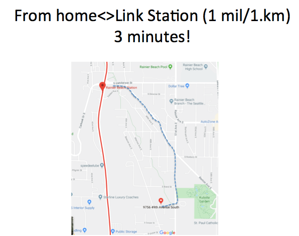 Three minutes to home/station