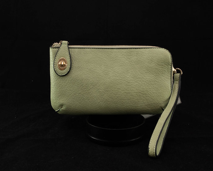 Twist Lock Crossbody - Light Green