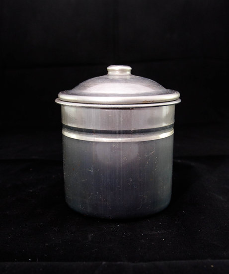 Potting Shed Enamelware Canister with Lid - Graphite
