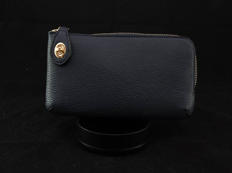 Twist Lock Crossbody - Navy