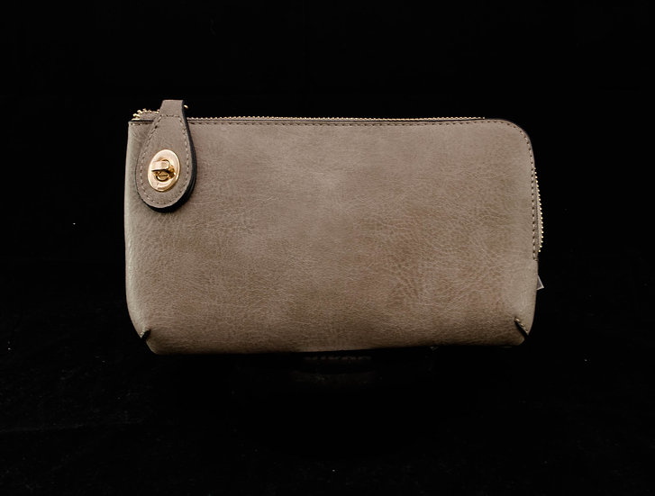 Twist Lock Crossbody - Light Stone