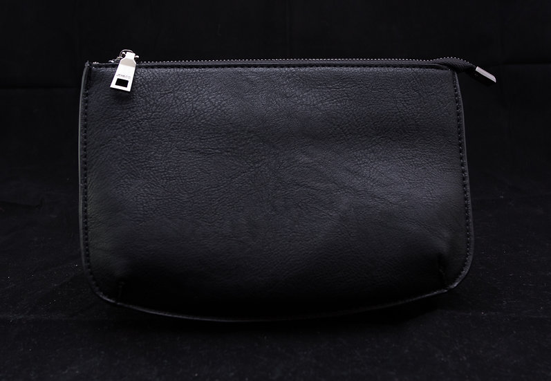 Two Compartment Crossbody/Clutch - Black