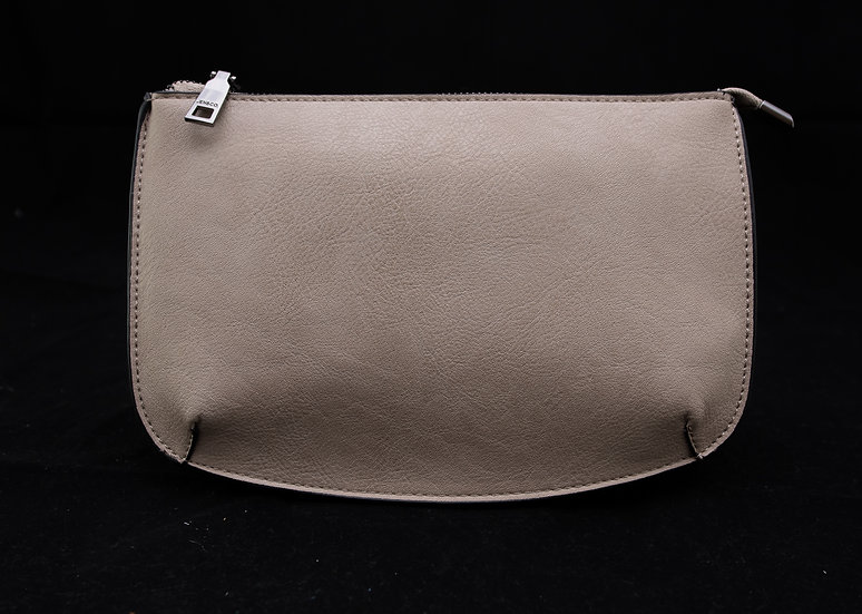Two Compartment Crossbody/Clutch - Sand
