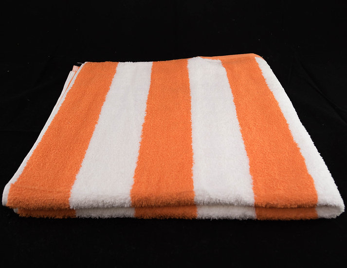 Cabana Stripe Beach & Pool Towels - Orange & White