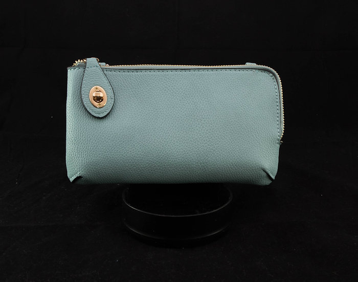 Twist Lock Crossbody - Cyan