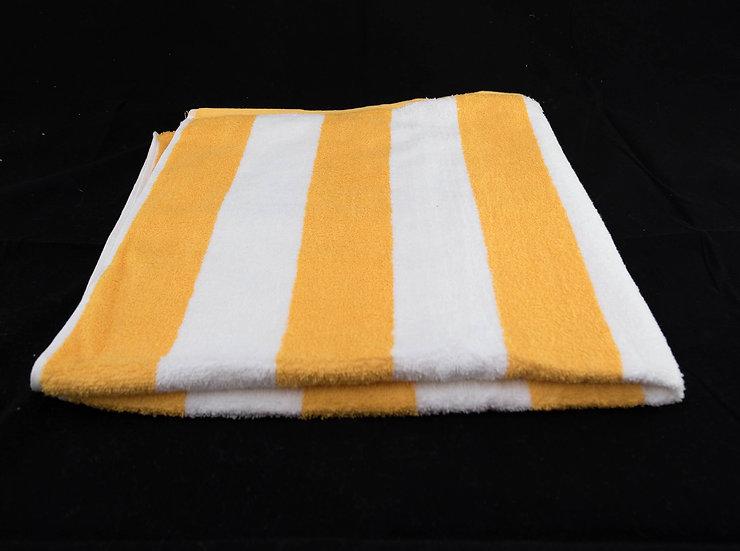 Cabana Stripe Beach & Pool Towels - Yellow & White