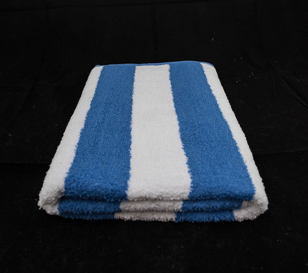 Cabana Stripe Beach & Pool Towels - Blue & White