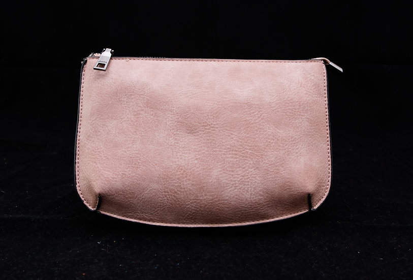 Two Compartment Crossbody/Clutch - Lt. Pink