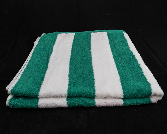 Cabana Stripe Beach & Pool Towels - Green & White