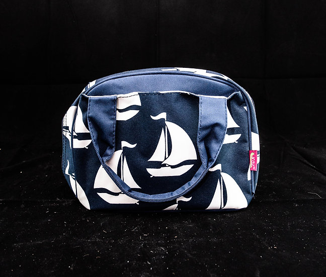 Lunch Bag, Insulated Bowler Style - Sail Away