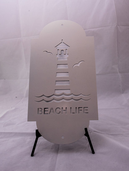 Lighthouse - Beach Life Sign