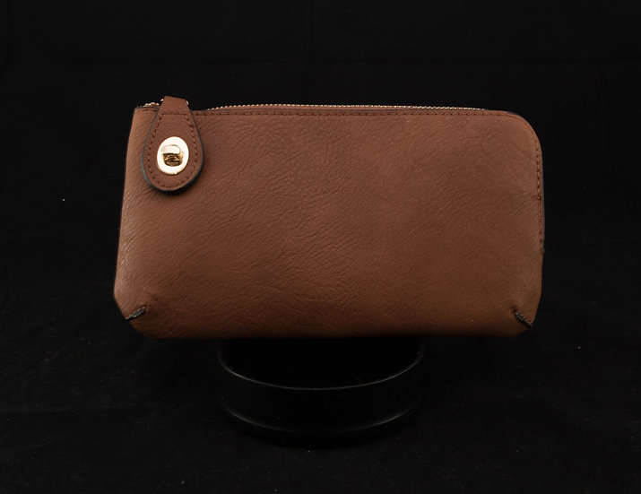 Twist Lock Crossbody - Brown