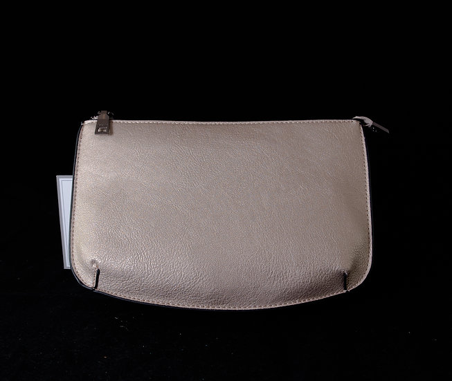 Two Compartment Crossbody/Clutch - Light Gray