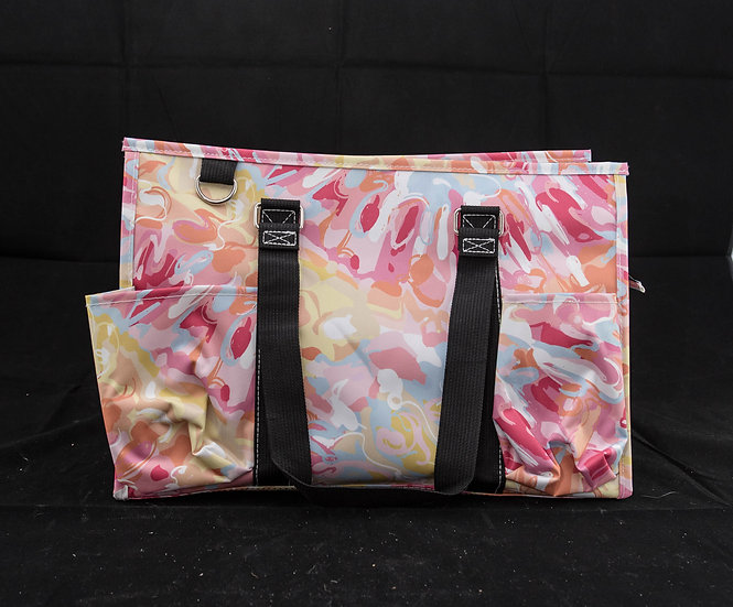 Utility Tote with Black Trim - Watercolor Splash