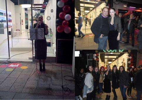 Aleshandra Timbel en la Shopping Night de Sabadell (diciembre'14)