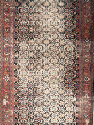10051423 Iran Antique Mahal 10'06x17'01