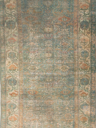 10051425 Iran Antique Mahal 4'11x9'02 H.