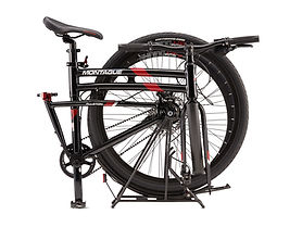 Montague full-sized folding bikes.