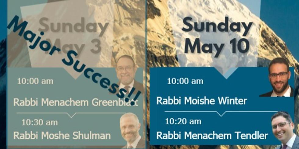 Community Yom Iyun Part 2 - Rabbi Moishe Winter & Rabbi Menachem Tendler