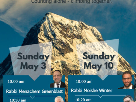 Don't Miss The Community Yom Iyun For Men!