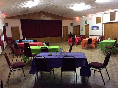 Inside Village Hall