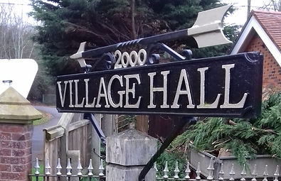 Sign for village hall