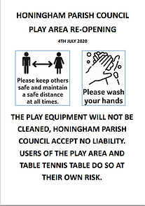 Image of poster explaining rules of play area use during COVID