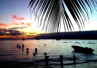 Coucher de soleil_Plage de Sainte-Anne