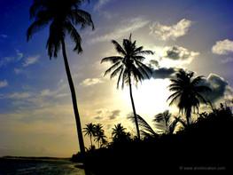 Coucher soleil plage de Bois Jolan