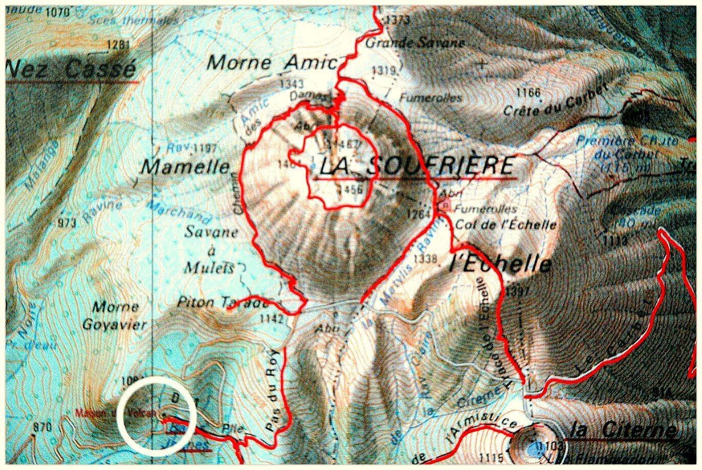 Anoli_Location_Soufrière_Guadeloupe_Carte