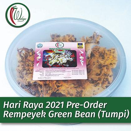 PRE-ORDER Rempeyek Green Bean (Tumpi), 400g