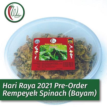 PRE-ORDER 🌶️ SPICY Rempeyek Spinach (Bayam), 400g