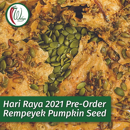 PRE-ORDER Rempeyek Pumpkin Seed (Labu), 400g