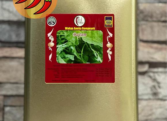 🌶️🌶️🌶️ SPICY Rempeyek Spinach (Bayam), 600g Small Tin