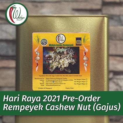 PRE-ORDER Rempeyek Cashew Nut (Gajus), 600g Small Tin