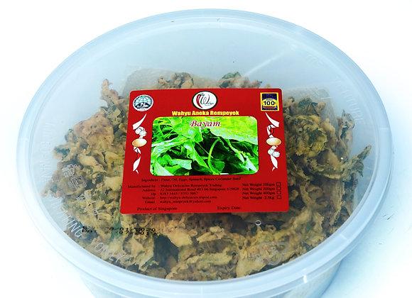 🌶️🌶️🌶️ SPICY Rempeyek Spinach (Bayam), 400g