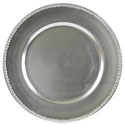 Silver Beaded Acrylic