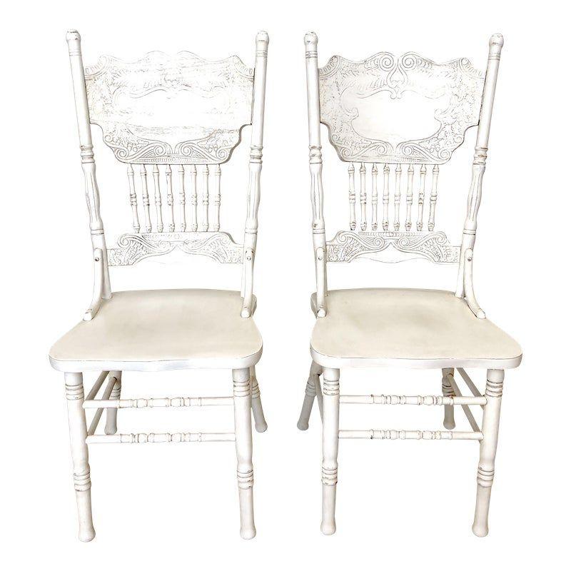 White Farm Chair